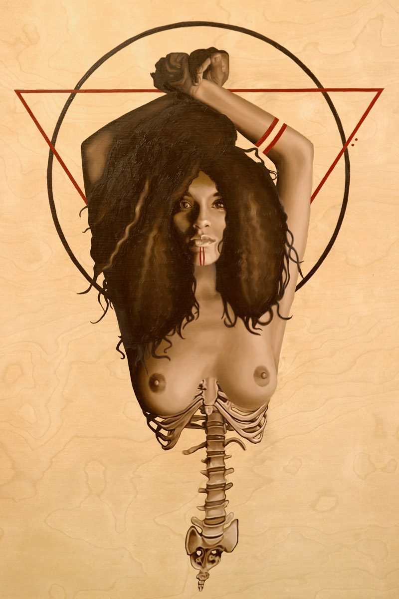 Backbone - 36x24 Oil Painting on Wood By Jodie Herrera