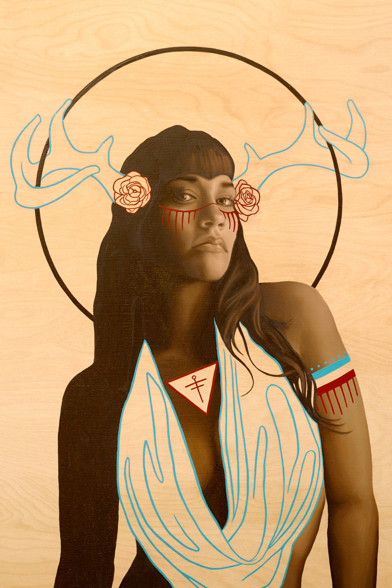 Jovanna - 36x24 Oil Painting on Wood By Jodie Herrera